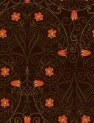 橘黃色花紋底紋