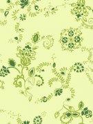 綠色花紋底紋