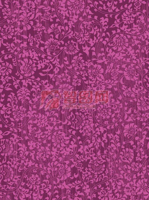 紫粉色花紋底紋