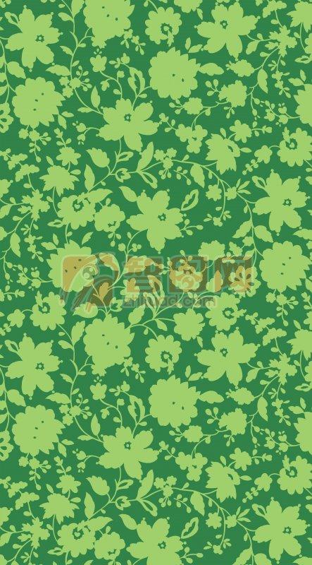 绿色背景底纹设计