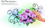 玫瑰花纹设计