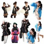 分层的美女冬装系列图