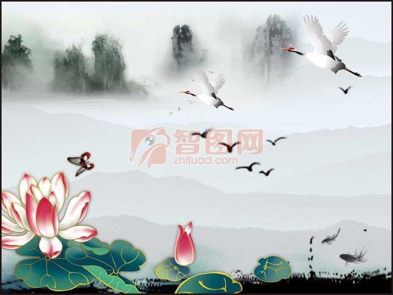 中国风山水风景画
