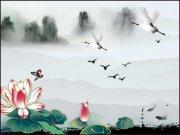 中國風山水風景畫
