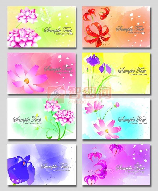 鲜花展板素材