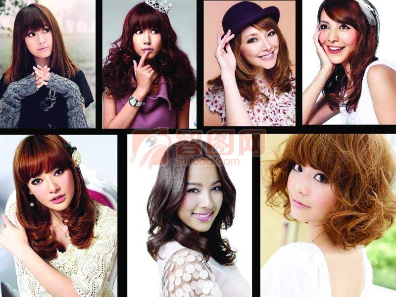 美女美发分层图