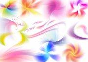 眩彩花紋背景 風車