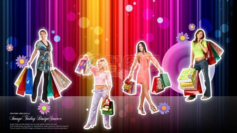 美女購物素材