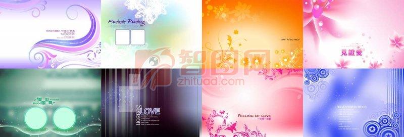 花紋線條展板模板