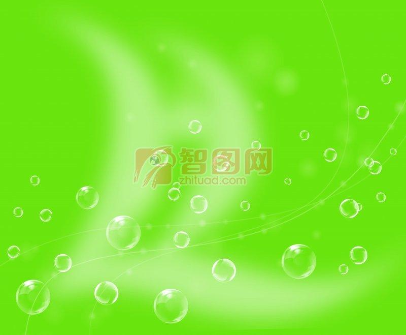 绿色气泡底纹背景