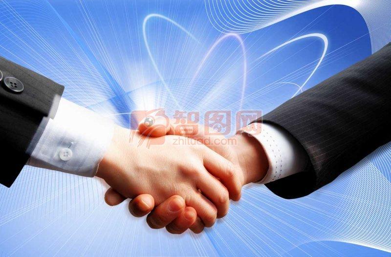 商务合作伙伴 握手合作