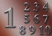 玻璃效果數字 數字效果
