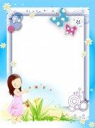 幼儿展板  卡通相框 相框