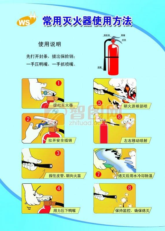 泡沫灭火器的使用方法