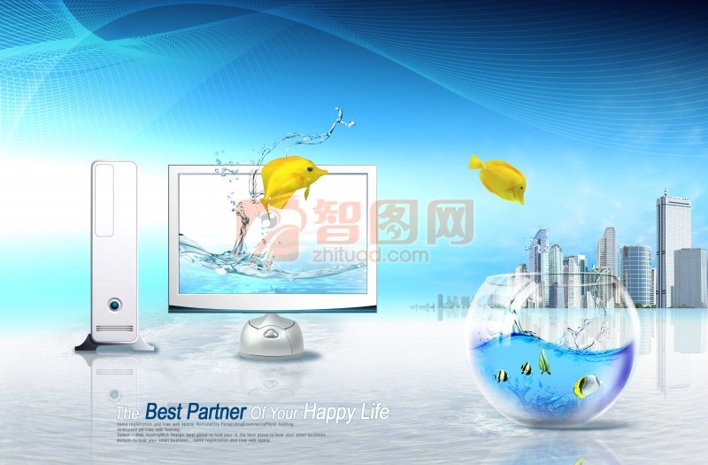 【psd】电脑广告高清素材