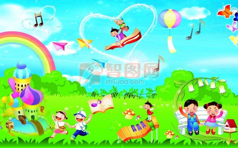 幼儿园背景海报设计