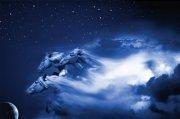 星星點點黑藍色天空