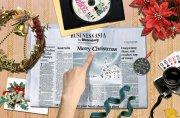 圣诞快乐的报纸