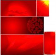 紅色展板背景