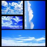 蓝天白云展板