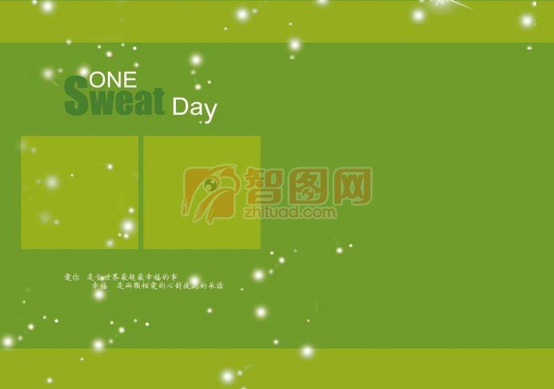 绿色画册板式