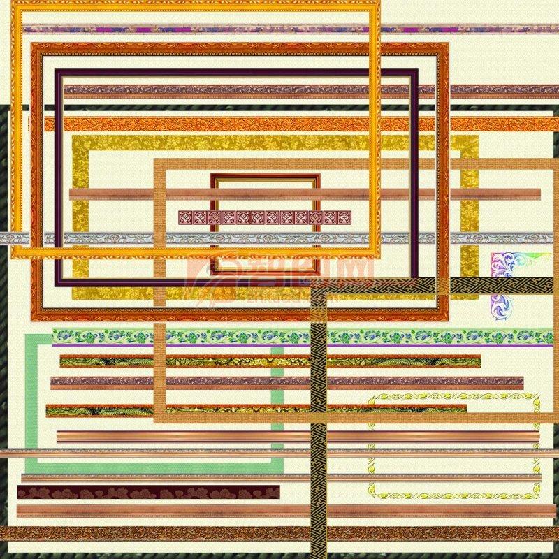 木质边框相框分层素材