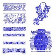 高清晰古典花紋