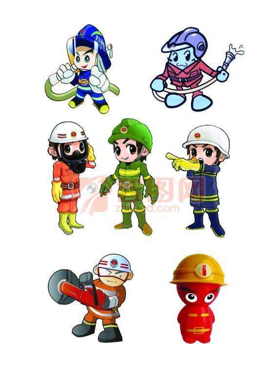 消防卡通人物