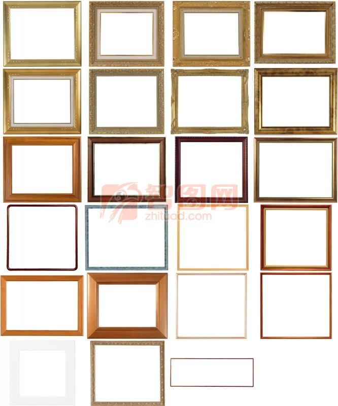 张木框边框素材系列