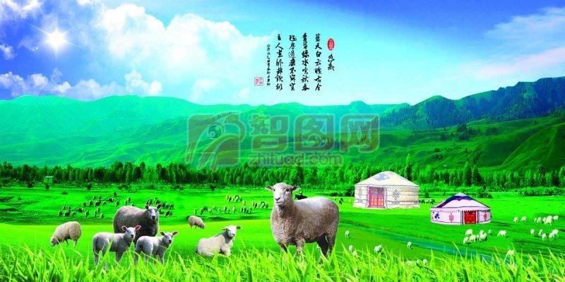 草原山羊海報