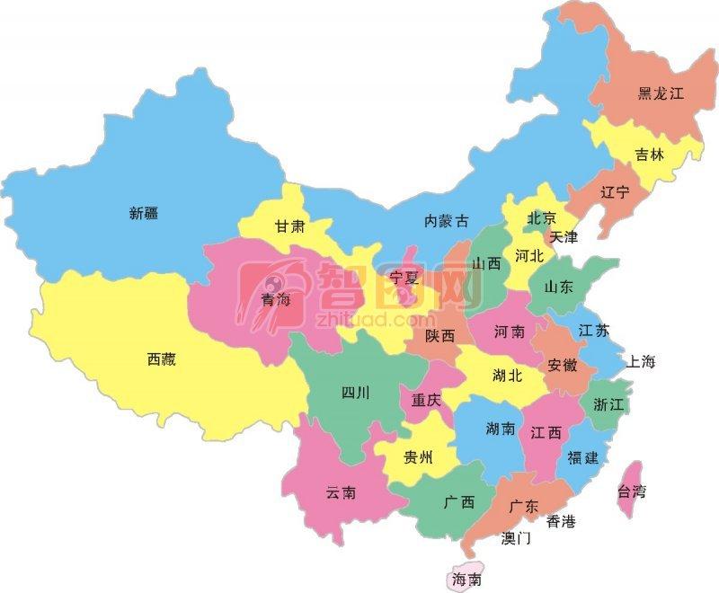 【cdr】中国地图海报设计