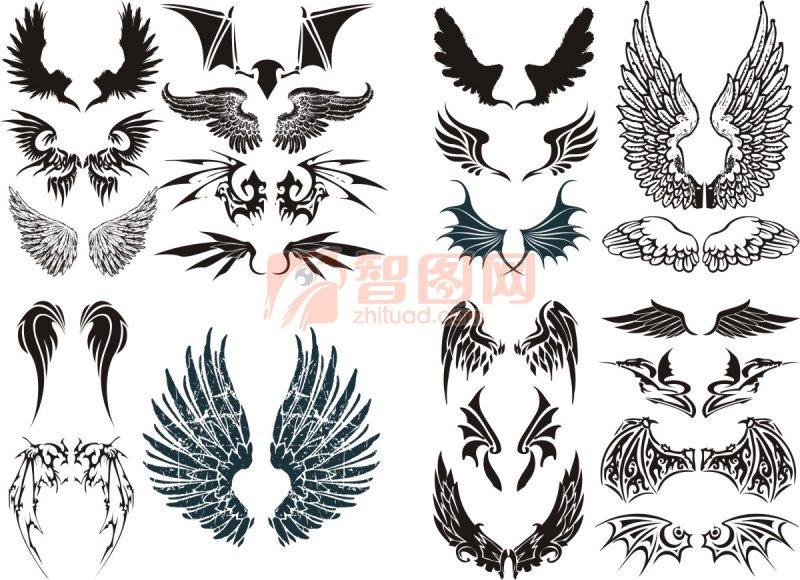 翅膀素材图案