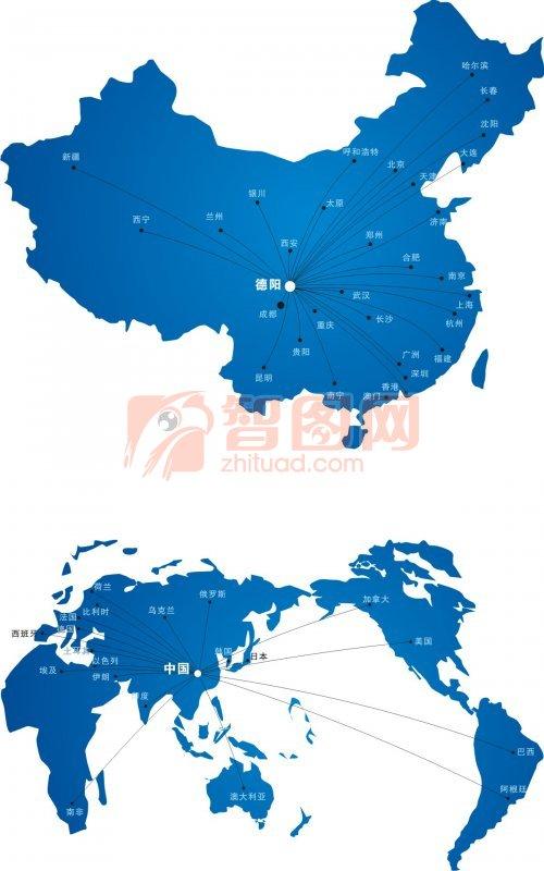 中国地图logo素材