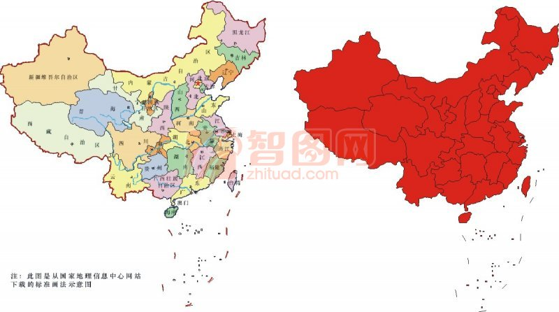 【cdr】中国地图标识
