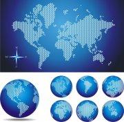 世界地图点阵图