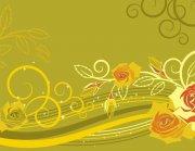 土黄色背景素材 黄色花边素材