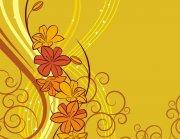 黄色花纹设计