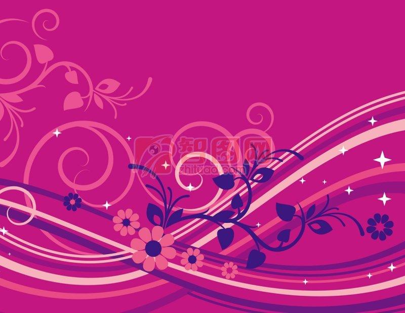 紫红色背景元素