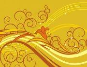 花纹素材 土黄色背景素材