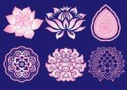花紋花邊素材