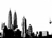 城市剪影画册版式模板