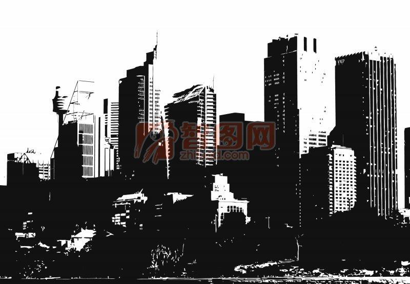 【ai】城市剪影海报宣传