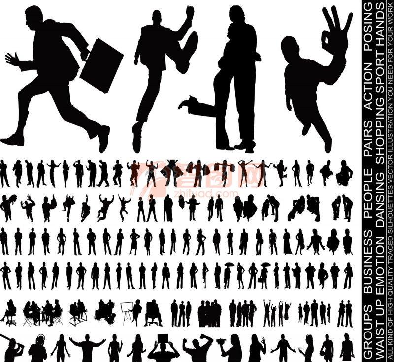 【cdr】商务人物剪影 矢量人物 cdr矢量素材 商务矢量