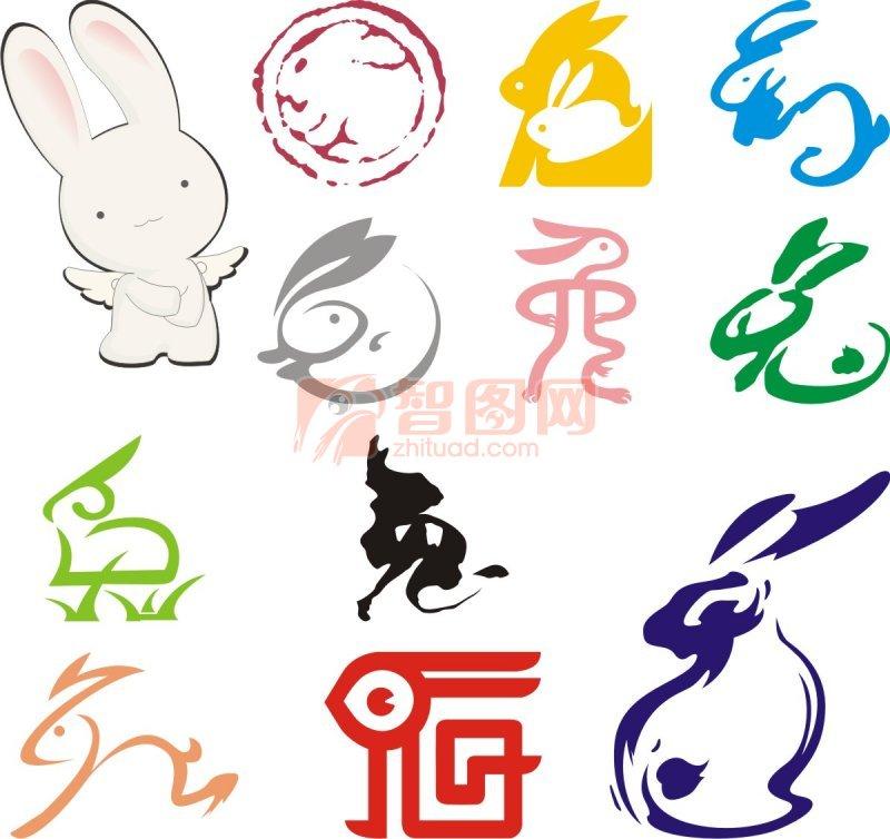 艺术兔 矢量兔子素材