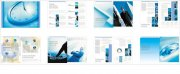 钟表元素海报 企业形象文化手册素材