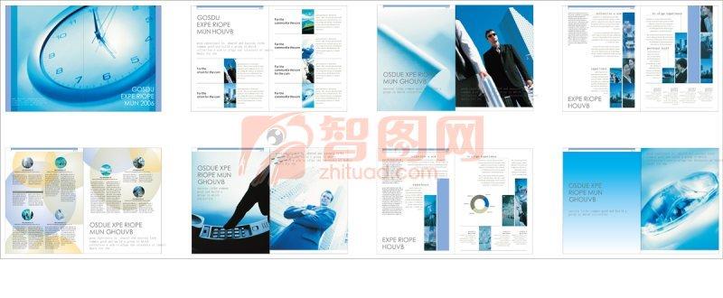 鐘表元素海報 企業形象文化手冊素材