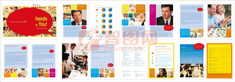 餐厅画册宣传素材 餐厅美食推广模板