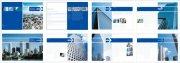 深蓝色背景元素 商务大厦画册设计素材