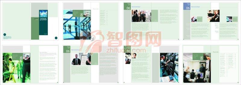 企業畫冊版式設計元素 商務公司素材
