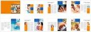 橙色封面 生活与商务画册